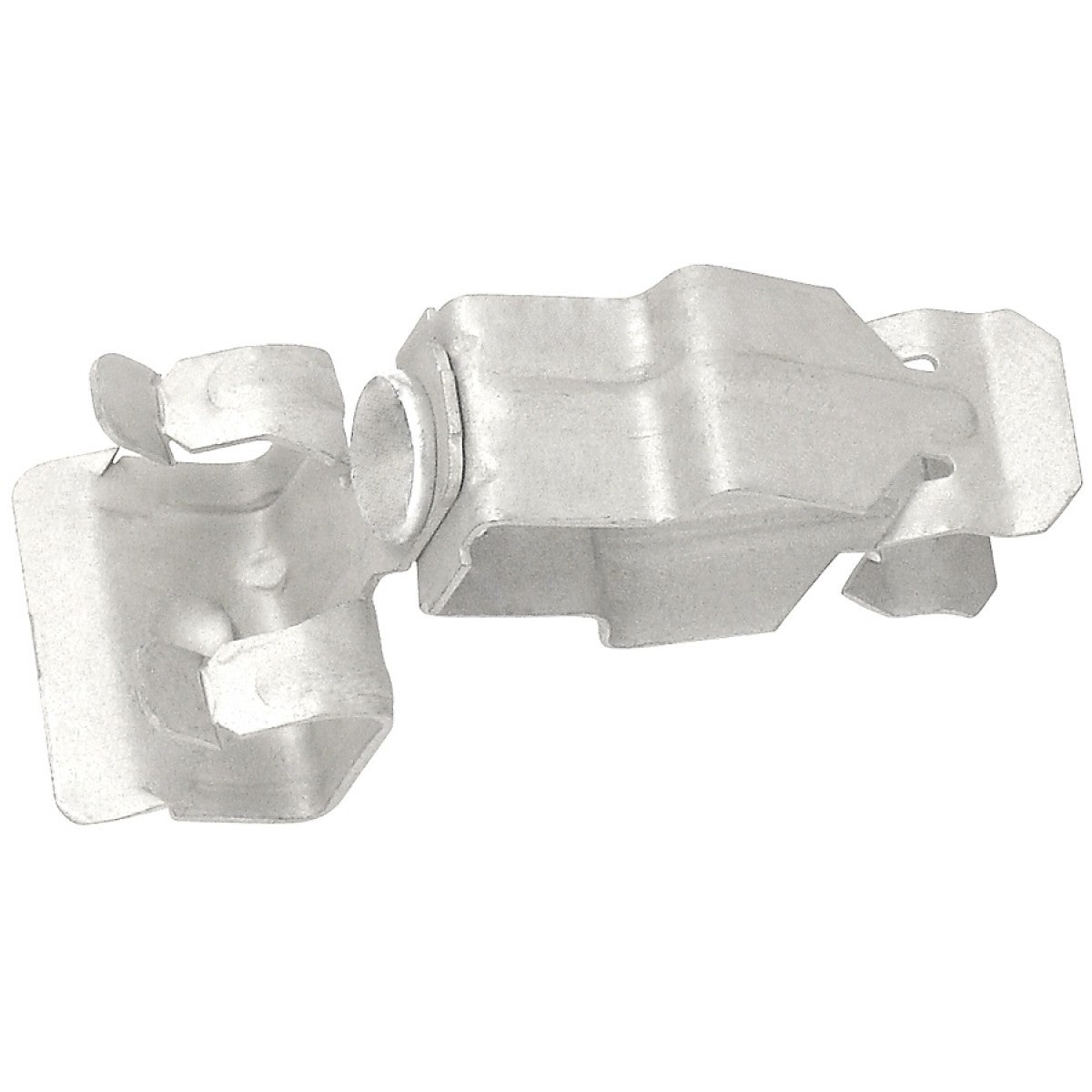 10 Pcs, Push in Conduit Hanger with Hammer on Beam Clamp, Side Mount, for 1 in. EMT and 9/16-3/4 in. Flange, Spring Steel