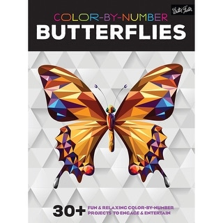 Walter Foster Creative Books-Color By Number - Butterflies