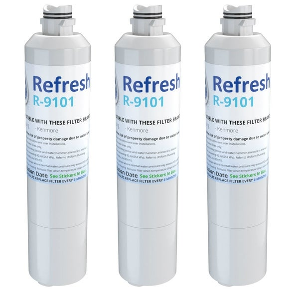 Replacement Water Filter For Samsung Rf263beaesr Aa Refrigerator By Refresh 3