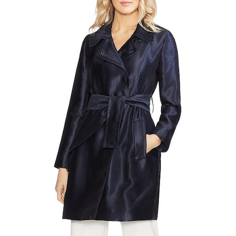 Vince Camuto Womens Trench Coat Satin Twill
