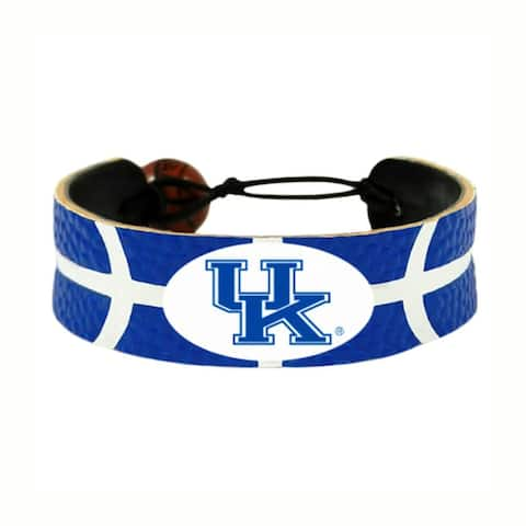 Kentucky Wildcats Team Color NCAA Gamewear Leather Basketball Bracelet