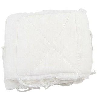 White Self Tie Ear Straps Reusable Cotton Face Mask Xxagn