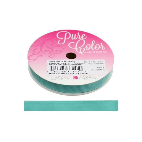 "Morex Ribbon Grosgrain 3/8""x 15yd Tiara Blue"