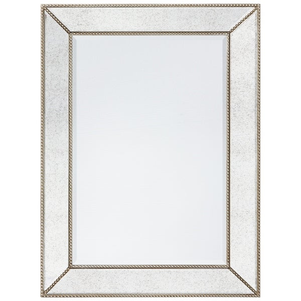 Solid wood frame covered Champagne Bead Beveled Rectangle Wall Mirro,multi size. Opens flyout.