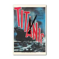 Titanic Sweden c. 1943 - Vintage Advertisement (Acrylic Wall Clock) - acrylic wall clock