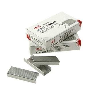 Silver Tone Steel Stationery Staples for Files Document