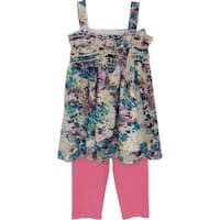 Isobella & Chloe Baby Girls Blue Orchid Two Piece Pant Outfit Set 12M-24M