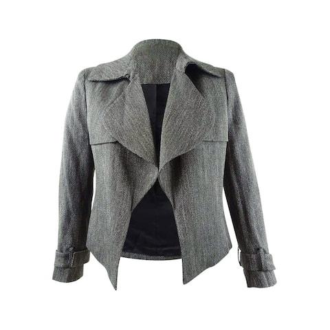 Anne Klein Women's Wide-Lapel Belted-Cuff Blazer