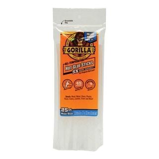 """Gorilla 3022502 Mini Hot Glue Sticks, Clear, 8"""""""