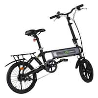 Costway 120W Lightweight Folding Electric Sporting Bicycle EBike Speed Lithium Battery - Black
