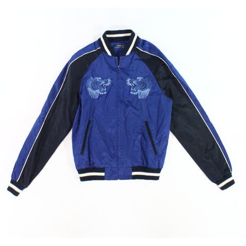 f27d900b9 Polo Ralph Lauren Blue Mens Size Small S Flight Bomber Jacket