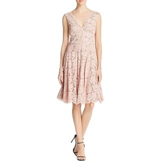 Vera Wang Womens Cocktail Dress Lace Scalloped Hem (2 options available)