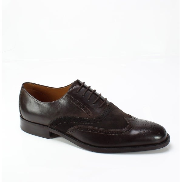 Tasso Elba NEW Brown Men's Shoes Size 11M Vitale Wing Tip Leather Oxford