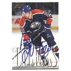 David Oliver Edmonton Oilers 1996 Topps Autographed Card  Rookie Card  This item comes with a certi