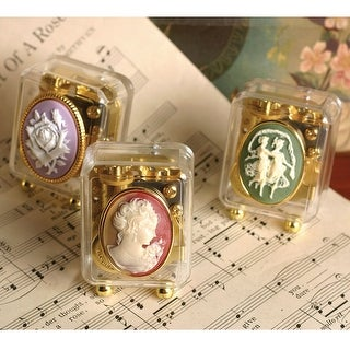 Victorian Trading Co. Cameo Music Boxes Collection - Set of 3 Keepsakes - MultiColor