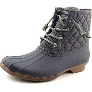 Sperry Top Sider Saltwater Quilt Round Toe Canvas Rain Boot
