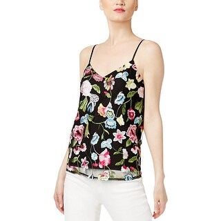 Cynthia Rowley Womens Camisole Top Embroidered Mesh
