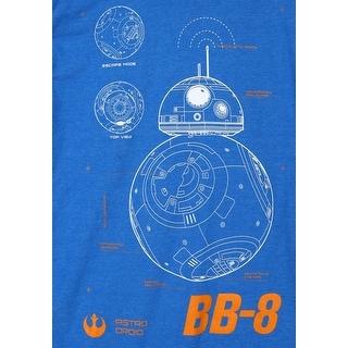 Star Wars Episode 7 BB-8 Plans Mens T-Shirt