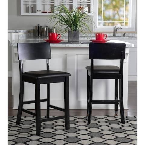 Porch & Den Aldersey Black Stationary Counter Stool