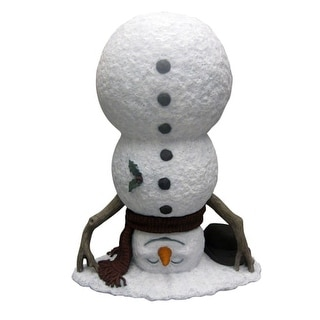 Design House 319707 20 Inch Tall Upside Down Snowman Winter Lawn Decoration