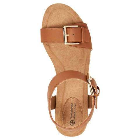 Giani Bernini Womens Montana Open Toe Casual Ankle Strap Sandals