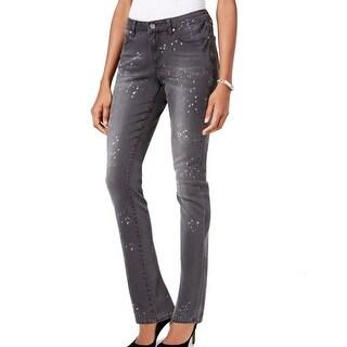 Earl NEW Women's Size 6X28 Paint Splatter Print Slim Skinny Jeans