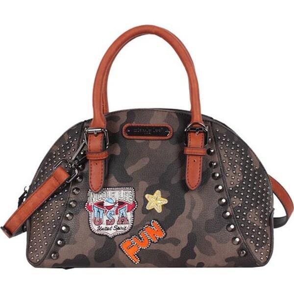 75f93b4c4e80 Shop Nicole Lee Women s Laquanna Print Bowler Bag Brown - us women s ...
