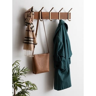 Link to Kate and Laurel Rossmore Modern 5 Hook Shelf - 5 Hooks Similar Items in Accent Pieces