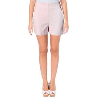 Zara Womens Dress Shorts High Waist Slit Pockets