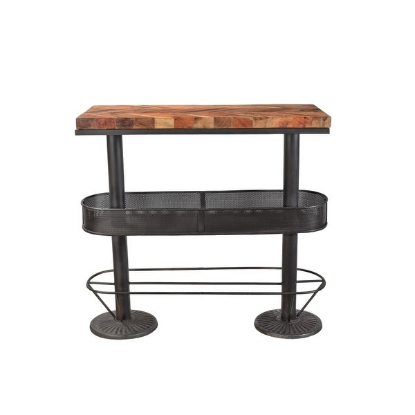 Moes Home Collection BX 1009 Morrissey 44 Inch Tall Reclaimed Wood Pub Table  Wit