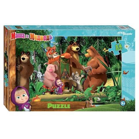 Masha & Medved Maxi Jigsaw Puzzle Game 24 Piece for Kids