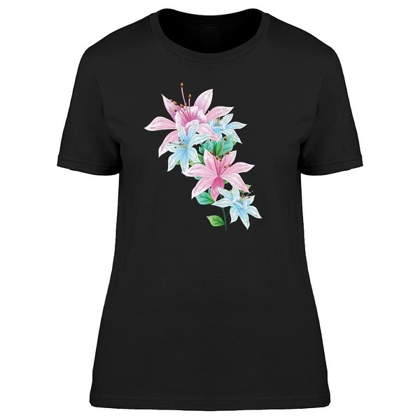 Multicolored Lily Flowers Tee Women's -Image by Shutterstock