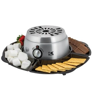 Kalorik 2-in-1 Stainless Steel S'mores Maker - Melts Chocolate for Fondue, Candy and Pastry Making -Accessories Included