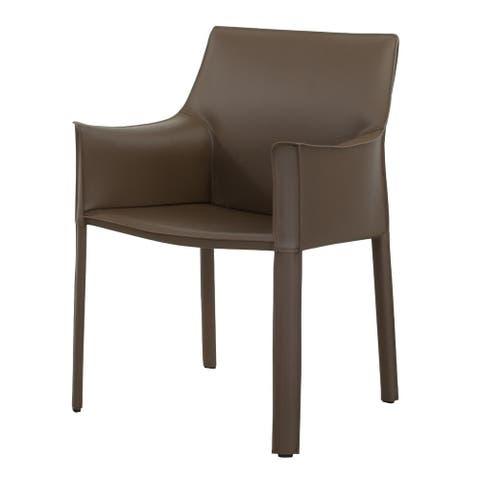 Billy Leather Dining Arm Chair 23 inch Wide