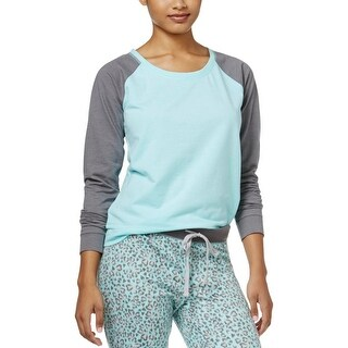 Jenni Womens Pajama Top Pull Over Long Sleeve