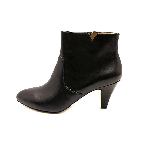 INC International Concepts Womens Hanah Leather Almond Toe Ankle Fashion Boots