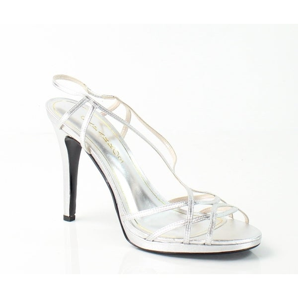 Caparros NEW Silver Sunday Shoes 10M Slingback Strappy Heels