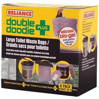 Reliance 341138 Doubledoodie Toilet Bag - Pack of 6