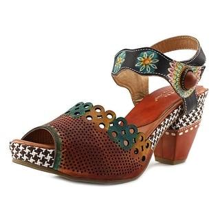Spring Step Jacinta Women Open Toe Leather Multi Color Sandals