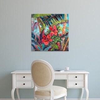 Easy Art Prints Nanette Oleson's 'Splash of the Tropics II' Premium Canvas Art