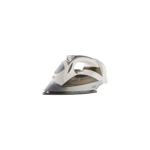 Brentwood Power Steam Iron Non-Stick - White Power Steam Iron