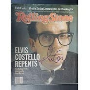 Signed Costello Elvis Rolling Stone Magazine Cover Only dated 921982 autographed
