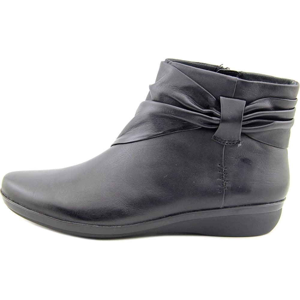 shoes for cheap the sale of shoes lowest price Clarks Narrative Everlay Mandy Women Round Toe Leather Black Ankle Boot