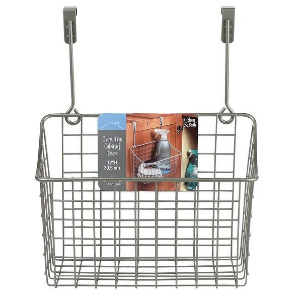 Spectrum 56277 Over the Cabinet Grid Basket, Medium, Satin Nickel