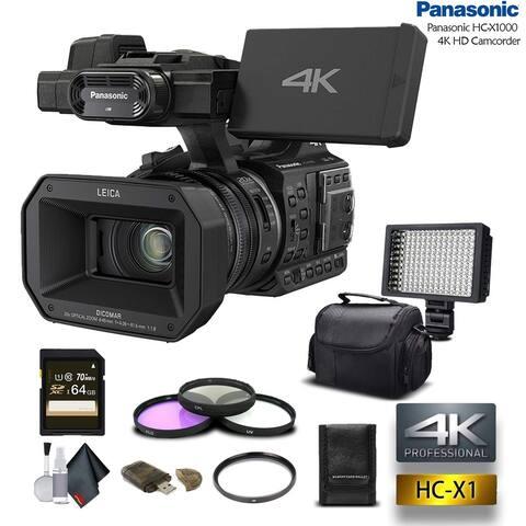 Panasonic HC-X1000 4K DCI/Ultra HD/Full HD Camcorder (Intl Model) - Advanced Bundle