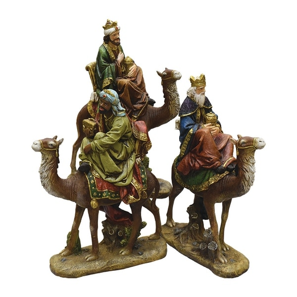 3-Piece 3 Kings on Camels Christmas Nativity Table Top Figurines