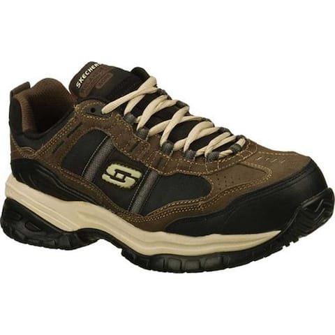 Skechers Men's Work Relaxed Fit Soft Stride Grinnell CT Boot Brown/Black