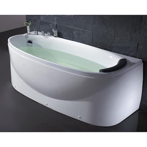 "Eago LK1104-L 66-7/8"" Soaking Bathtub for Free Standing Installation"