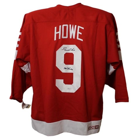 Gordie Howe Autographed Detroit Red Wings CCM Red XL Jersey JSA