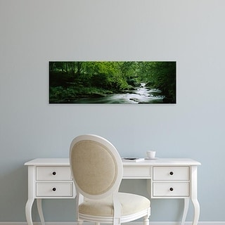 Easy Art Prints Panoramic Images's 'River flowing in the forest, Aberfeldy, Perthshire, Scotland' Premium Canvas Art